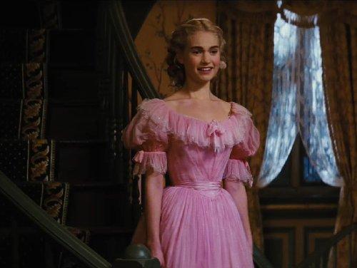 Custom Made Pink Chemise A La Reine Wedding Dress (Cinderella) by Sandy Powell (Costume Designer) in Cinderella