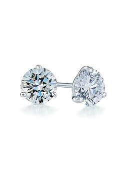Diamond & Platinum Stud Earrings by Kwiat in Ballers