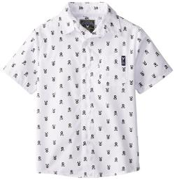 Little Boys' Skull Print Woven Shirt by Company 81 in Little Fockers