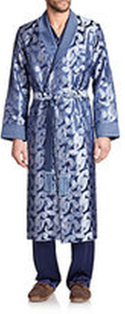 Printed Silk Robe by Derek Rose in Pitch Perfect 2