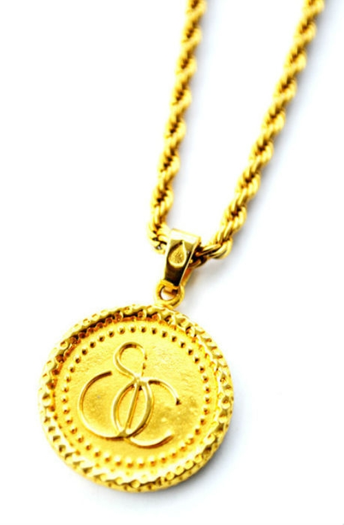 The Caesar X Gold Necklace by Smithstonean Inc. in Black Mass
