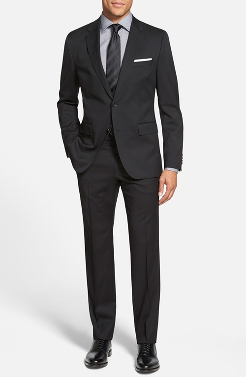 'Johnstons/Lennon' Trim Fit Wool Suit by BOSS in Arrow