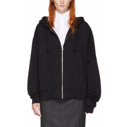 Asymmetric Zip Hoodie by MM6 Maison Margiela in Power