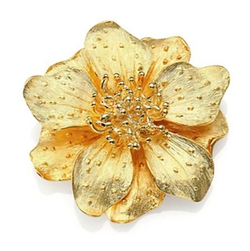 Anemone Flower Pin by Kenneth Jay Lane in Scandal
