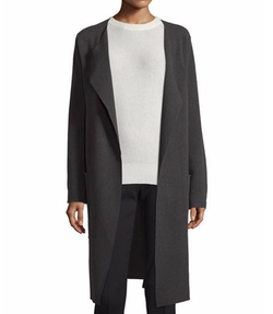 Long Wool Wrap Coat by Joseph in Guilt