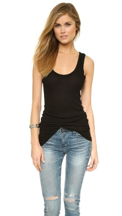 Bold Ribbed Tank Top by Enza Costa in The Gift