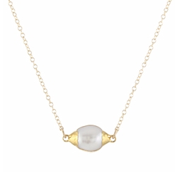 Big Pearl Drop Necklace by Peggy Li in The Flash