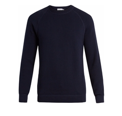 Crew-Neck Rack-Stitched Cotton Sweater by Sunspel in Transformers: The Last Knight