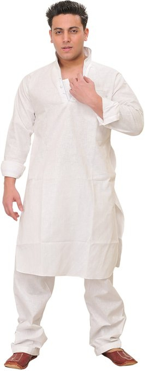 Stylish Collar Plain Kurta by Exotic India in Me and Earl and the Dying Girl
