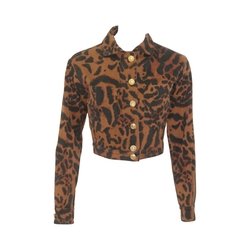 Animal Printed Short Jacket Spring 1992 by Gianni Versace in Empire
