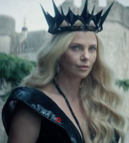 Custom Made 'Ravenna' Black Royal Gown by Colleen Atwood (Costume Designer) in The Huntsman: Winter's War