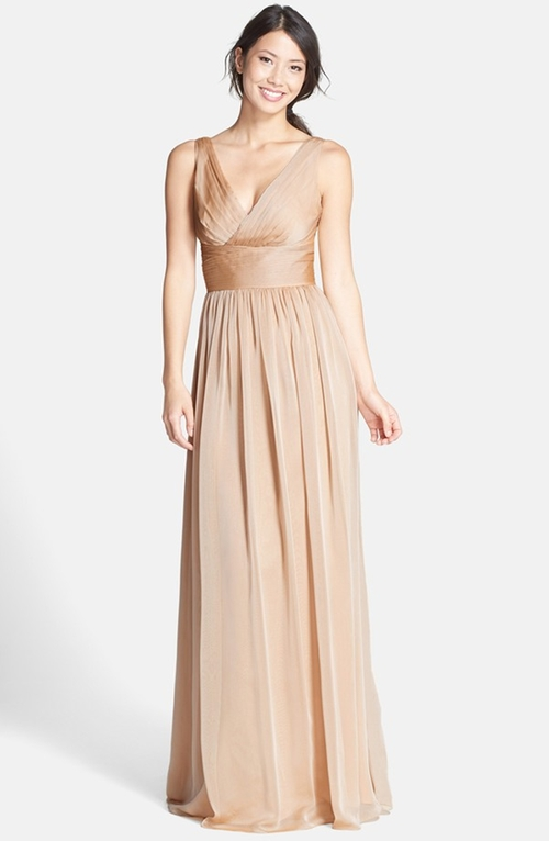 Sleeveless Ruched Chiffon Dress  by Monique Lhuillier  in Wedding Crashers