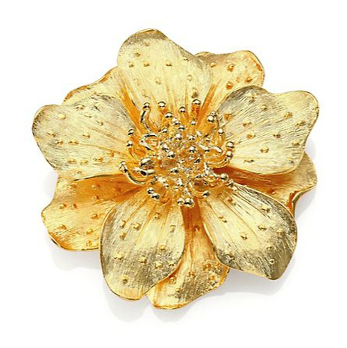 Anemone Flower Pin by Kenneth Jay Lane in Scandal - Season 5 Episode 9