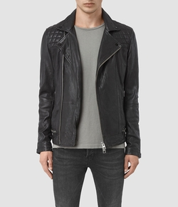 Conroy Leather Biker Jacket by All Saints in Shadowhunters