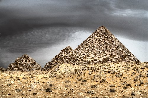 Pyramid of Menkaure Giza Governorate, Egypt in Night at the Museum: Secret of the Tomb