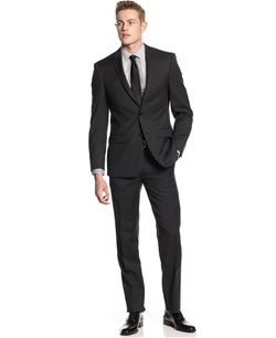 Texture Extra Slim-Fit Suit by DKNY in Life
