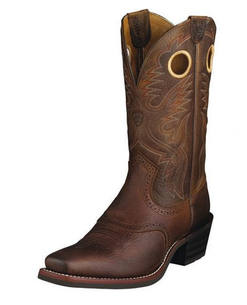 Heritage Roughstock Square Toe Boots by Ariat in The Longest Ride