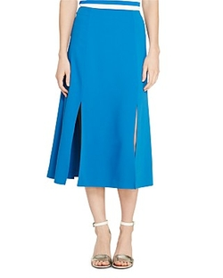 Slit Front A-Line Skirt by Lauren Ralph Lauren in Chelsea