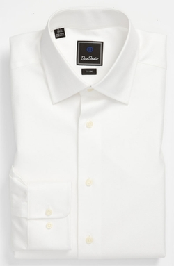 Trim Fit Solid Dress Shirt by David Donahue in Scandal