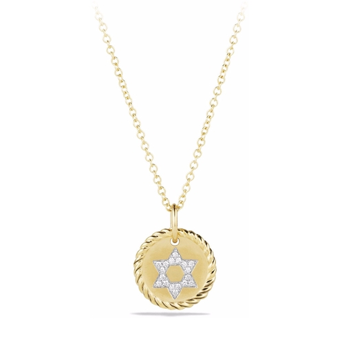 Diamond Star of David Pendant Necklace by David Yurman in Animal Kingdom - Season 1 Episode 5