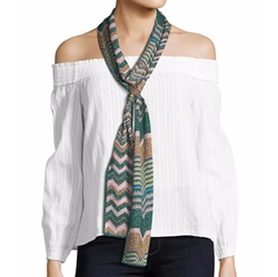 Skinny Metallic Scarf by Missoni in Gypsy