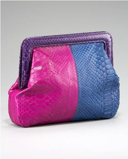 Colorblock Python Eva Clutch Bag by Adriana Castro in Sex and the City 2