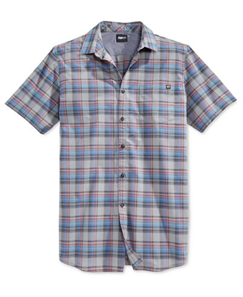 Men's Cloose Woven Short-Sleeve Shirt by Fox in Speechless