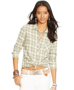 Slim-Fit Plaid Shirt by Denim & Supply Ralph Lauren in Vacation
