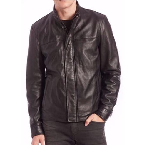 Modern Leather Jacket by Saks Fifth Avenue Collection in Daddy's Home
