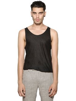 Linen Jersey Tank Top by John Varvatos in Begin Again