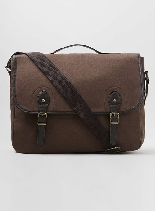 Canvas Satchel Messenger Bag by Topman in She's The Man