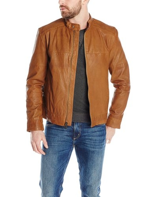 Men's Leather Moto Jacket by Cole Haan in Sleeping with Other People
