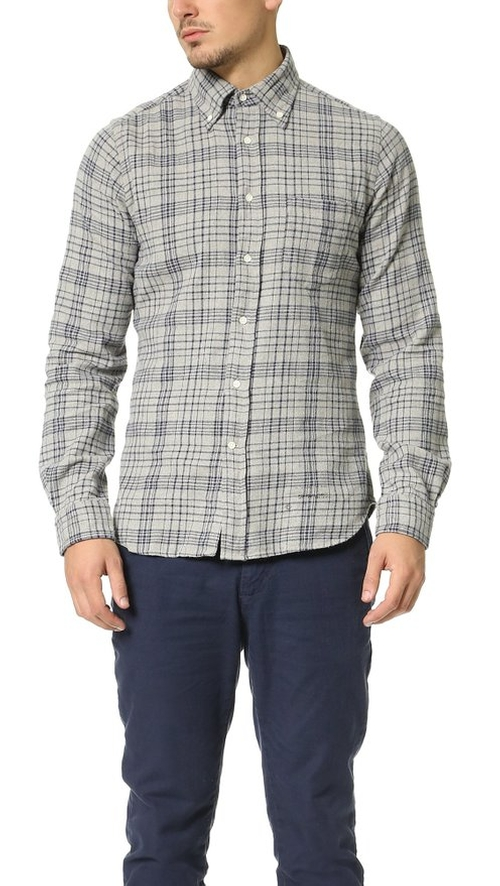 Men's Melange Check Shirt by Gant Rugger in Modern Family - Season 7 Episode 9