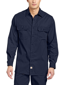 Twill Long Sleeve Button Work Shirt by Carhartt in The Intern