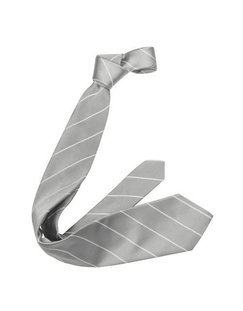 Pencil Stripe Silk Twill Tie by Forzieri in Fifty Shades of Black