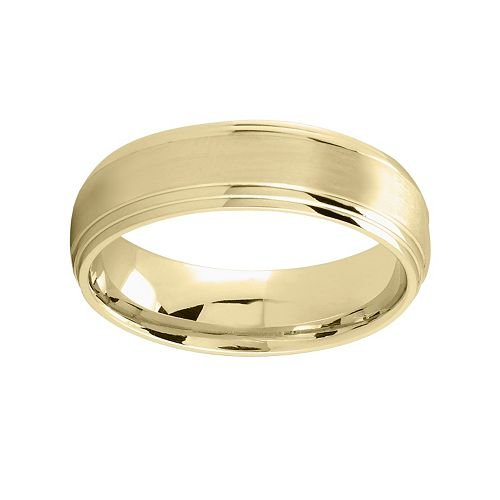 14k Gold Center Stripe Wedding Band by Kohl's in Hall Pass