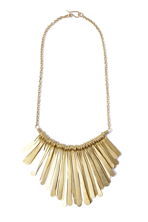 Brass Fringe Necklace by Soko in Modern Family - Season 7 Episode 4
