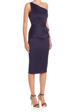 Anerley One-Shoulder Double-Faced Satin Dress by Roland Mouret in The Flash