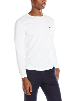 Long-Sleeve Jersey Pima T-Shirt by Lacoste in Barely Lethal