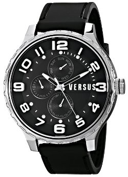 Men's Globe Analog Display Quartz Black Watch by Versus by Versace in The Secret Life of Walter Mitty