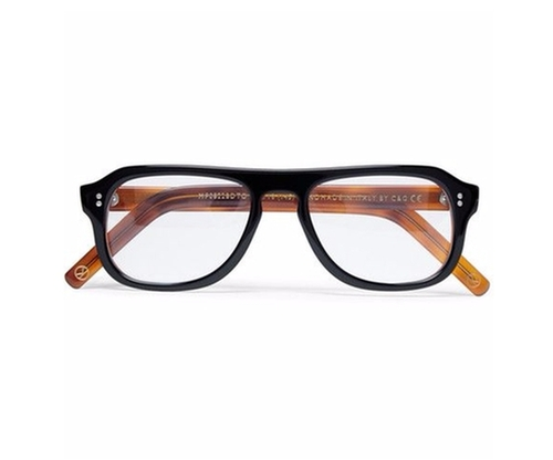 Tortoiseshell Acetate Square Frame Optical Glasses by Cutler And Gross in Kingsman: The Secret Service