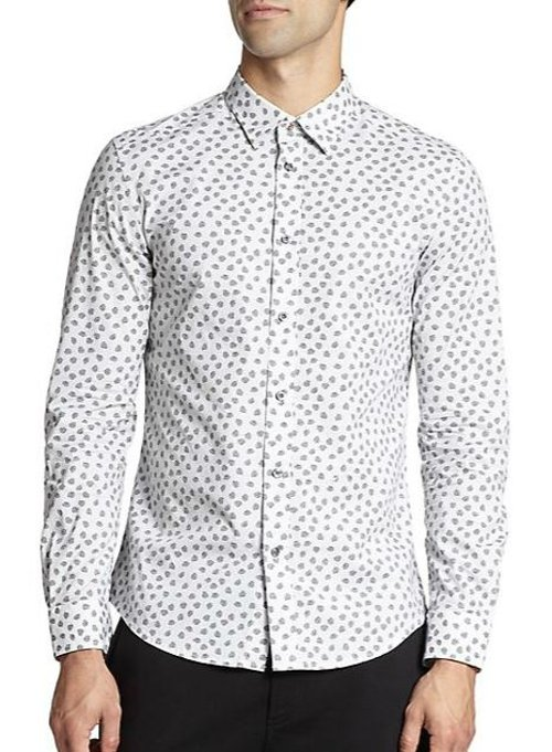 Stretch Cotton Skull-Print Sportshirt by Diesel in (500) Days of Summer