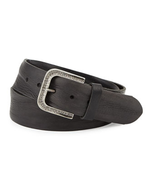 Tumbler Leather Belt by Will Leather Goods in Ballers