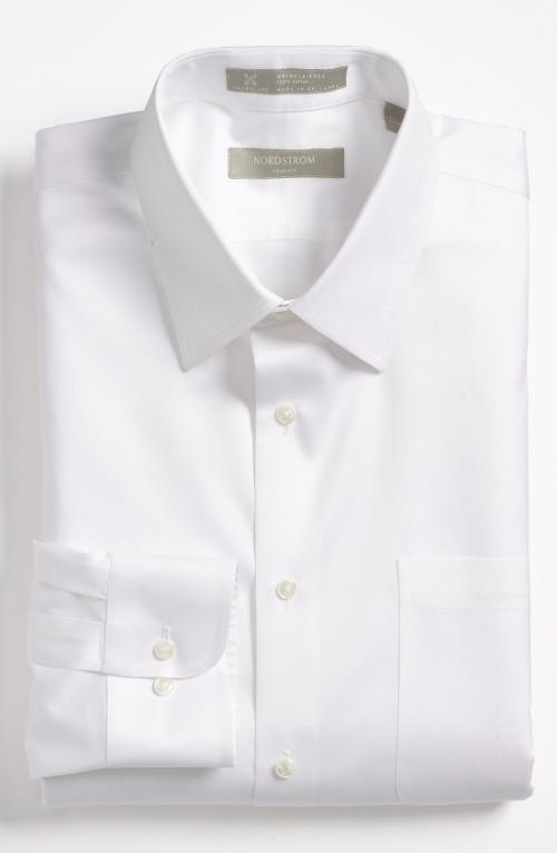 Smartcare Trim Fit Twill Dress Shirt by Nordstrom in The Best of Me