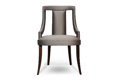 Eanda Dining Chair by Brabbu in Fifty Shades of Grey