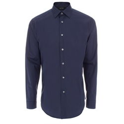 Men's Tailored-Fit Navy Cotton 'Byard' Shirt by Paul Smith in Billions