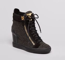 Lorenz Wedge Sneakers by Giuseppe Zanotti in Power