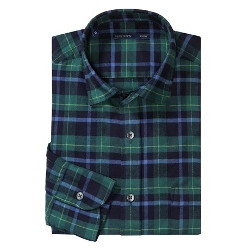 Brushed Cotton Multi-Plaid Shirt by Mason's in Ted 2