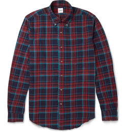 Button-Down Collar Cotton-Flannel Shirt by Aspesi in Scandal