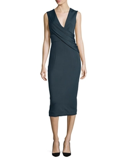 Ibiza Jasmine Sleeveless Draped Dress by Cushnie Et Ochs in Suits